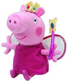 "TY Beanies Buddy 7"" Plush Princess Peppa Pig"