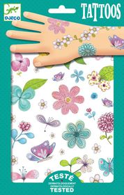 Djeco Tattoos - Fair Flowers Of The Fields