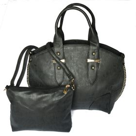 Sotto PU Leather Tote & Mini Bag Combo LJL-N15031 - Black