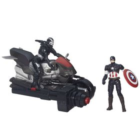 Avengers Delux Figures - Captain America & Marvel's War Machine