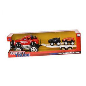 Super Monster Truck Car Toy Set with Trailer