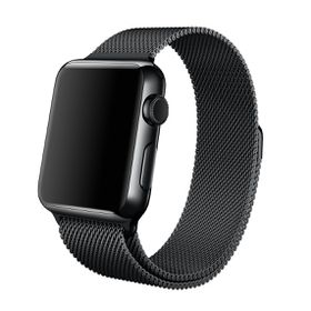 Apple Watch Strap 38mm By Anebest - Milanese Steel - Black