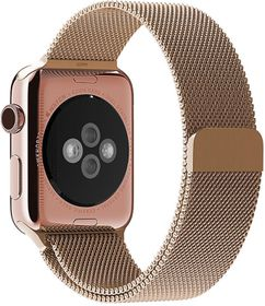 Apple Watch Strap 42mm By Anebest - Milanese Steel - Light Rose Gold