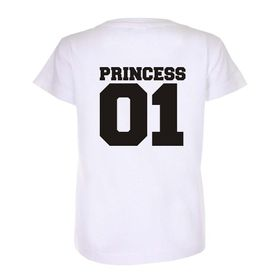 Princess 01 Back print Kids white T-shirt