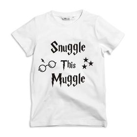 Snuggle this Muggle Kids white T-shirt