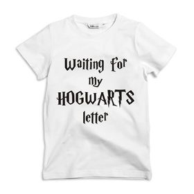 Waiting for my Hogwarts letter Kids white T-shirt