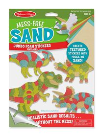 Melissa & Doug Mess-Free Sand Jumbo Foam Stickers - Dinosaurs