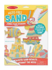Melissa & Doug Mess-Free Sand Jumbo Foam Stickers - Beach