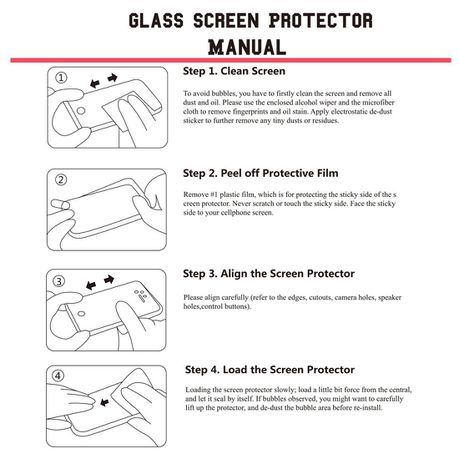 Tuff-Luv Tempered Glass Screen Protection for Samsung Galaxy Tab A