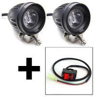 2x Premium Mini Motorcycle Spot & Handlebar Switch Combo