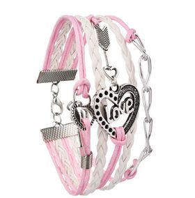 Urban Charm Love is in the Air Infinity Bracelet- Pink\White