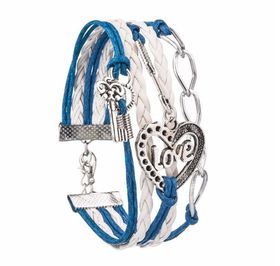 Urban Charm Love is in the Air Infinity Bracelet- Blue\White