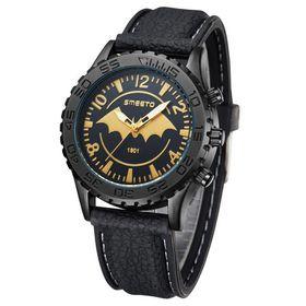 Smeeto Gold Bat Design Men Quartz Watch -Black
