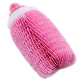 Baby Bottle Honeycomb - Pink