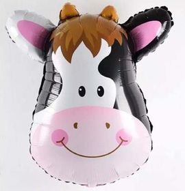 Cow Face Foil Balloon (Big)