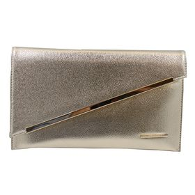Blackcherry Asymmetrical Clutch Bag - Light Gold