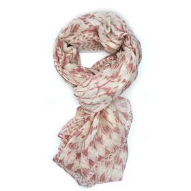 Lily & Rose White & Red Aztec Print Scarf - TLS095