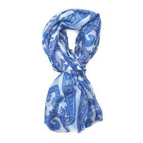 Lily & Rose Blue & Peach Paisley Design Scarf - TLS103