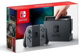 Nintendo Switch Console with Grey Joy-Con (NS)
