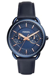 Fossil Womens Quartz Stainless Steel And Leather Casual Watch- Blue (Parallel Import) ES4092