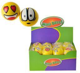 Bulk Pack 12 X Novelty Stress Ball Funny Face