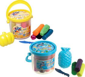 Bulk Pack 10 X Play Dough Bucket with Dough and Accessories