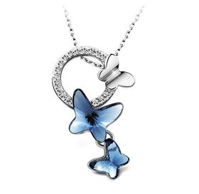 Destiny Butterfly Dream Earring And Necklace Set with Swarovski Crystals