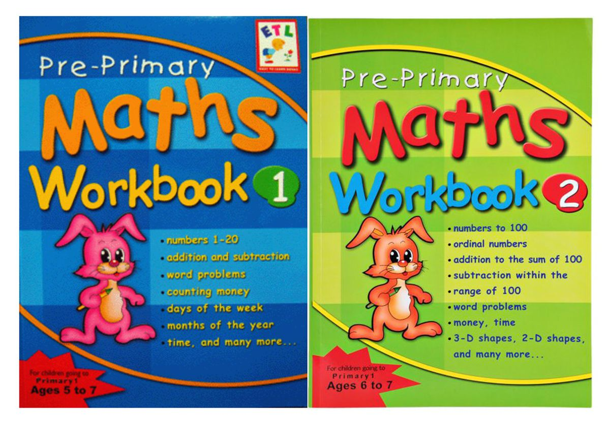 Pre-primary Maths Workbook 1 And 2 Bundle | Buy Online in South ...