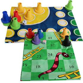 Bulk Pack 5 X Ludo/Snakes and Ladders With Giant Game Mat