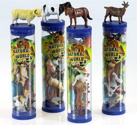Bulk Pack 5 X Farm Animals in a Tube Assorted