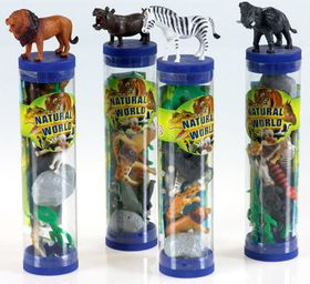 Bulk Pack 5 X Wild Animals in a Tube Assorted