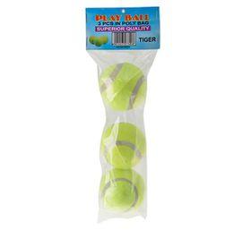Bulk Pack 8 X Tennis Balls - Bag of 3 Yellow