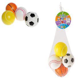 Bulk Pack 5 X Stress/Soft Play Sport Balls - 5.5cm Set of 4