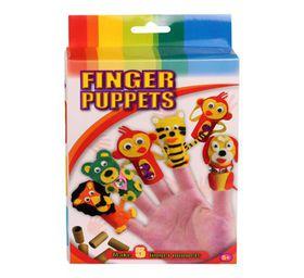 Bulk Pack 5x Art & Craft Finger Puppets Set Makes 5 Finger Puppets