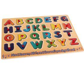 Bulk Pack 4x Alphabet Board A - Z Wooden Push-in Board