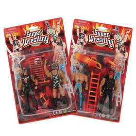 Bulk Pack 4x Wrestling Figurines