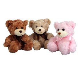 Bulk Pack 3x Sitting Bear 18cm Assorted Colours