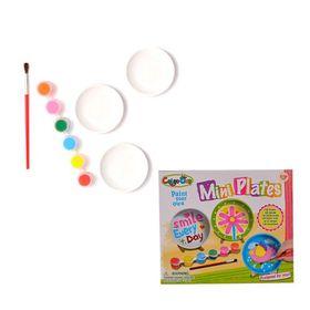 Bulk Pack 3x Art & Craft Paint Your Own Mini Plates