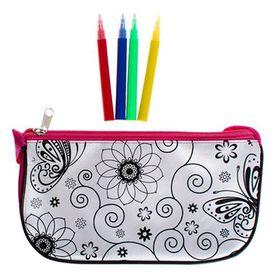 Bulk Pack 3x Colour-In Hand Bag 20.5x13x7.5cm