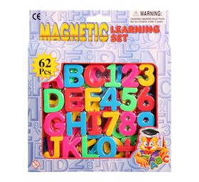 Bulk Pack 3x Magnetic Learning Set 62 Letters And Numerals