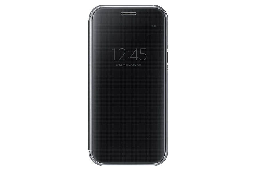 samsung galaxy a5 2017 clear view cover black buy online in south africa. Black Bedroom Furniture Sets. Home Design Ideas