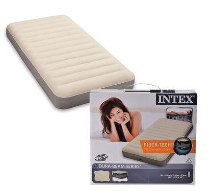 intex air bedmattress dura beam twin flocked loading zoom