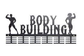 TrendyShop DC Body Building His & Hers Medal Hanger - Black