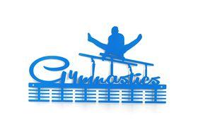 TrendyShop DC Gymnastics male Parallel bars Medal Hanger - Blue