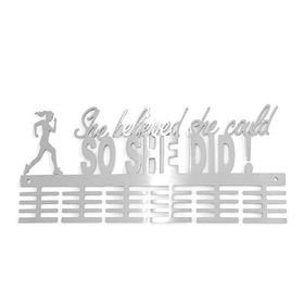 TrendyShop DC She Believed She Could So She Did! Medal Hanger - Stainless Steel