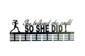 TrendyShop DC She Believed She Could So She Did! Medal Hanger - Black
