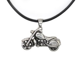 Xcalibur Stainless Steel Motorbike Pendant On A Thong - TXN066