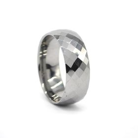 Xcalibur Stainless Steel Gents Diamond Cut Design Ring - TXR020 (Size: T)