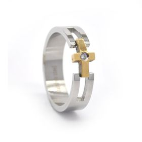 Xcalibur Stainless Steel Band 6mm Wide with Highly Polished Yellow - TXR026 (Size: V)