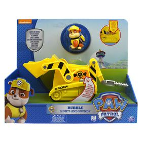 Paw Patrol Lights & Sound Feature Vehicle - Rubble